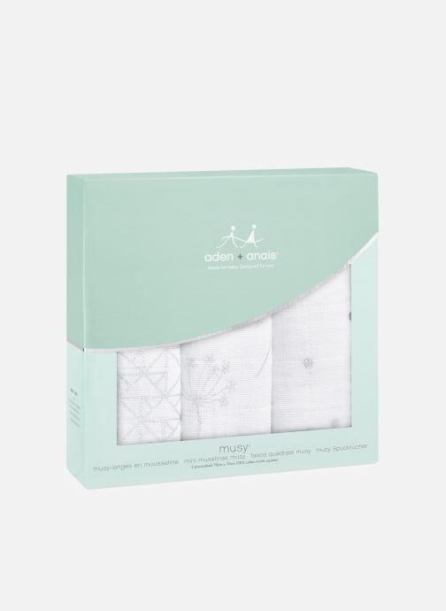 Divers aden + anais Musy-langes métalliques 70x70 - pack de 3 Blanc vue détail/paire