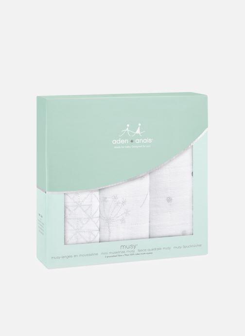 Vêtements aden + anais Musy-langes métalliques 70x70 - pack de 3 Blanc vue détail/paire
