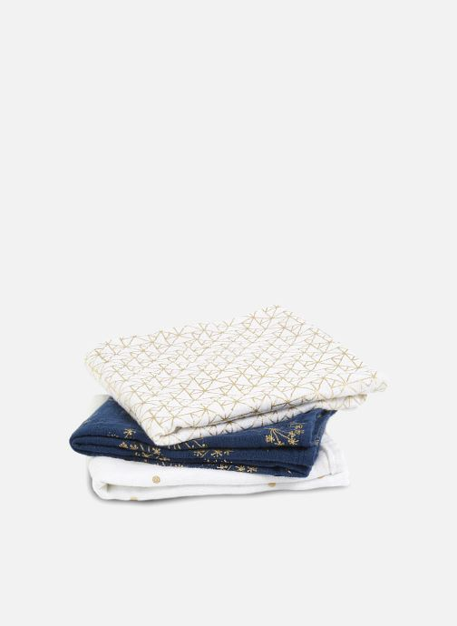 Vêtements aden + anais Musy-langes métalliques 70x70 - pack de 3 Bleu vue portées chaussures