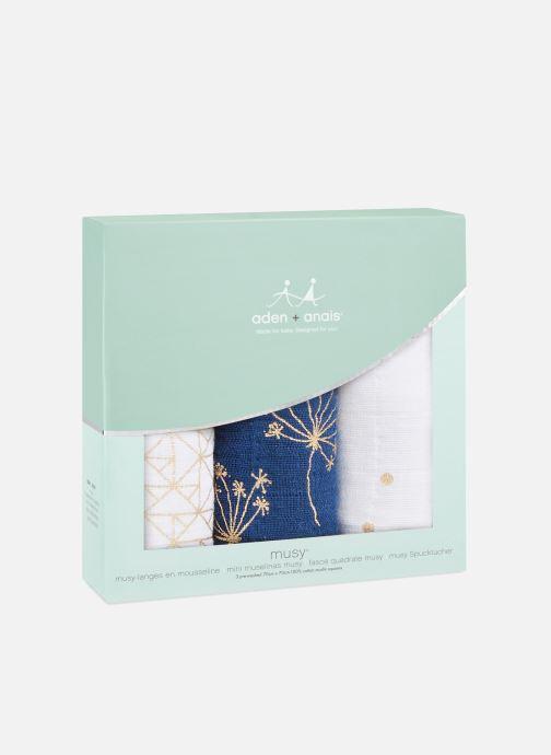 Vêtements aden + anais Musy-langes métalliques 70x70 - pack de 3 Bleu vue détail/paire