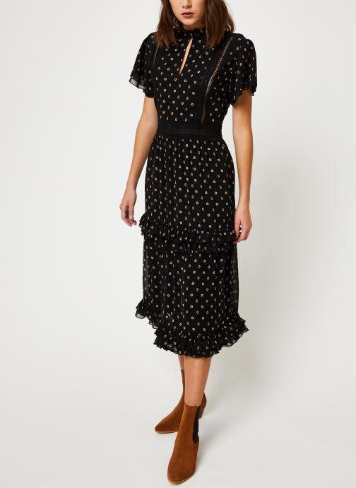 Vêtements Scotch & Soda Party dress with ruffles and lace panels Noir vue bas / vue portée sac