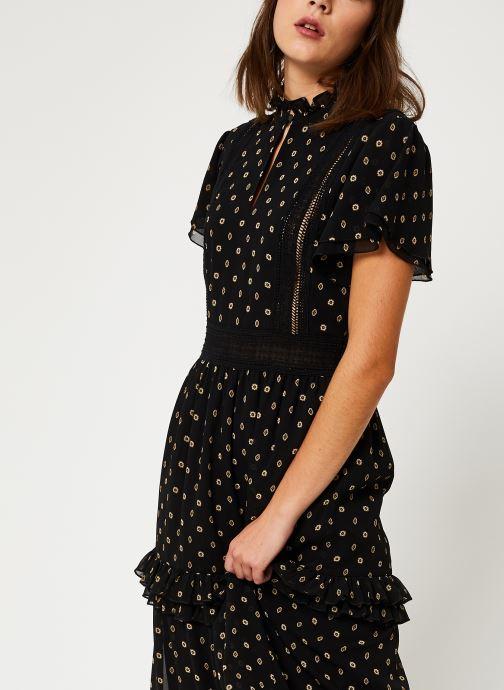 Vêtements Scotch & Soda Party dress with ruffles and lace panels Noir vue droite