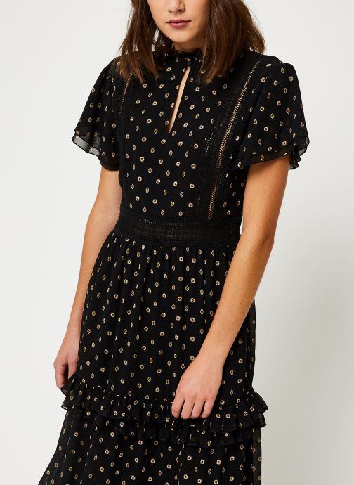 Vêtements Scotch & Soda Party dress with ruffles and lace panels Noir vue détail/paire
