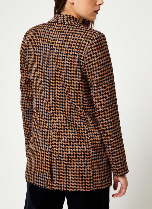 Vêtements Maison Scotch Long tailored blazer in menswear patterns Marron vue portées chaussures