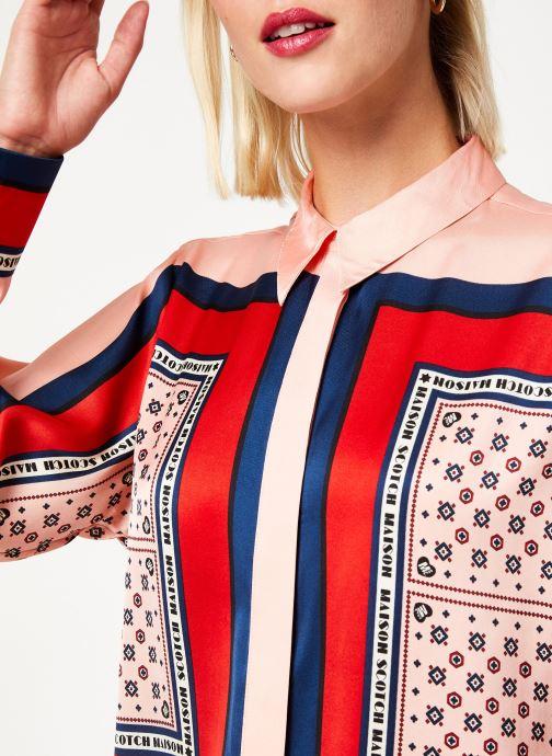 Vêtements Maison Scotch Button up shirt with bandana print Rose vue face