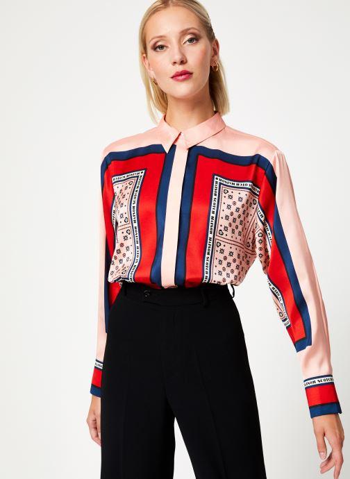 Vêtements Maison Scotch Button up shirt with bandana print Rose vue droite
