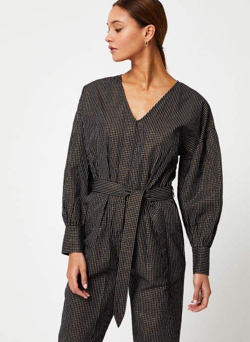 Vêtements Maison Scotch Checked cotton lurex all-in-one Vert vue détail/paire