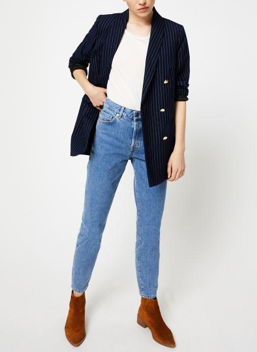 Vêtements Maison Scotch Parisien inspired double breasted long blazer Bleu vue bas / vue portée sac