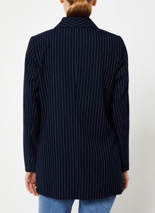 Vêtements Maison Scotch Parisien inspired double breasted long blazer Bleu vue portées chaussures