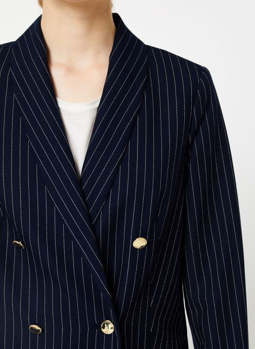 Vêtements Maison Scotch Parisien inspired double breasted long blazer Bleu vue face