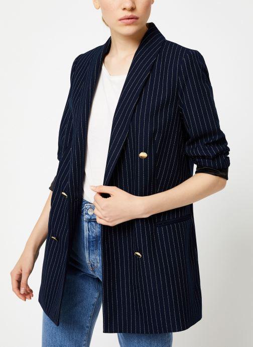 Vêtements Maison Scotch Parisien inspired double breasted long blazer Bleu vue droite