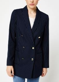 Parisien inspired double breasted long blazer
