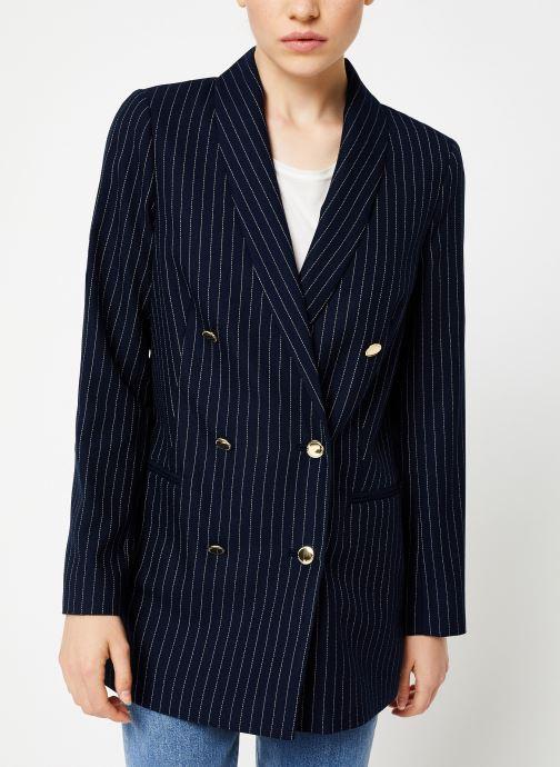 Vêtements Maison Scotch Parisien inspired double breasted long blazer Bleu vue détail/paire