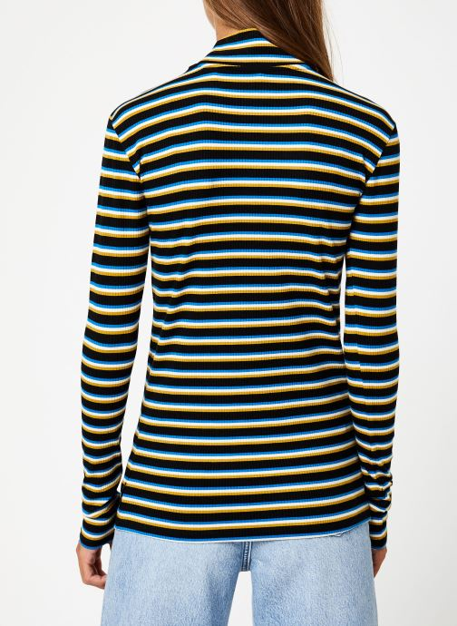 Vêtements Maison Scotch Striped turtle neck Multicolore vue portées chaussures