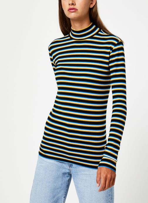 Vêtements Maison Scotch Striped turtle neck Multicolore vue détail/paire
