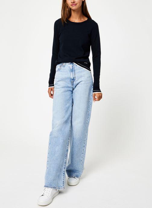 Vêtements Maison Scotch Basic crewneck pullover Bleu vue bas / vue portée sac