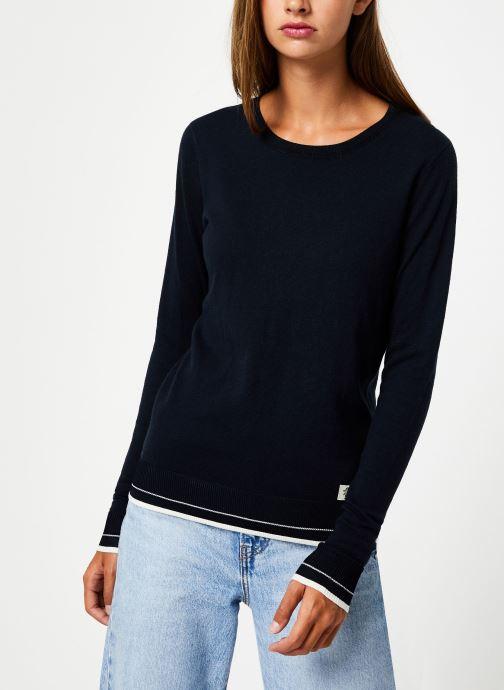Vêtements Maison Scotch Basic crewneck pullover Bleu vue détail/paire