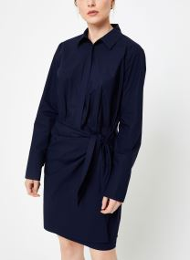 Robe mini - Clean cotton shirt dress in solid & pr