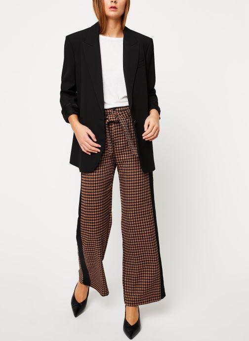 Vêtements Scotch & Soda Wide leg pants with contrast side panel Marron vue bas / vue portée sac