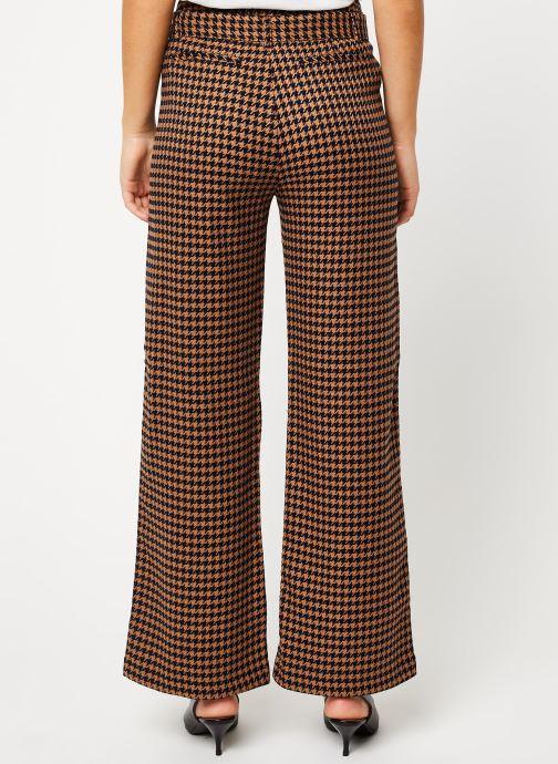Vêtements Scotch & Soda Wide leg pants with contrast side panel Marron vue portées chaussures