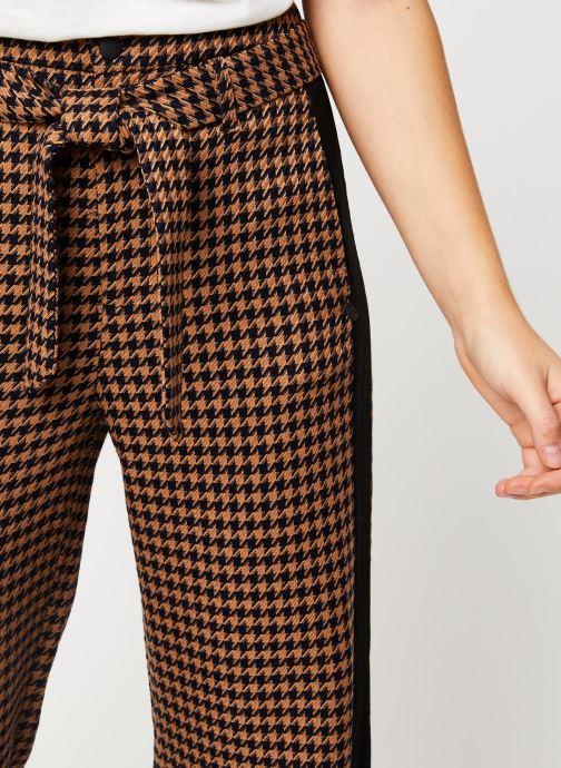 Vêtements Scotch & Soda Wide leg pants with contrast side panel Marron vue face