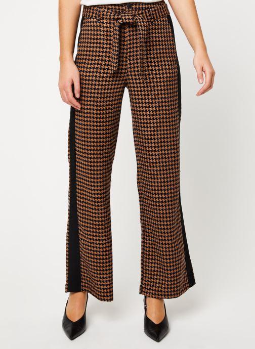 Vêtements Scotch & Soda Wide leg pants with contrast side panel Marron vue détail/paire