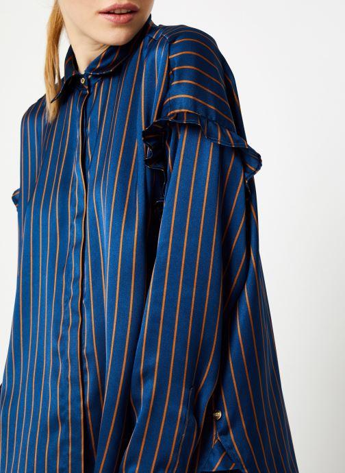 Vêtements Scotch & Soda Boxy fit striped button up shirt Bleu vue face