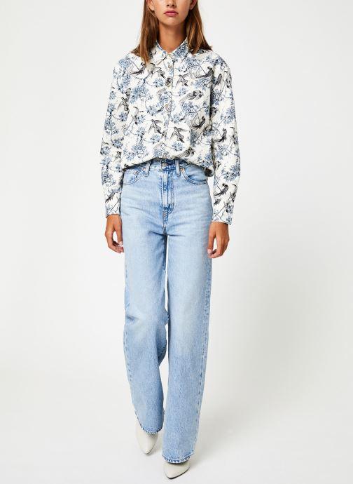 Vêtements Maison Scotch Classic boyfriend shirt with western detailing Bleu vue bas / vue portée sac