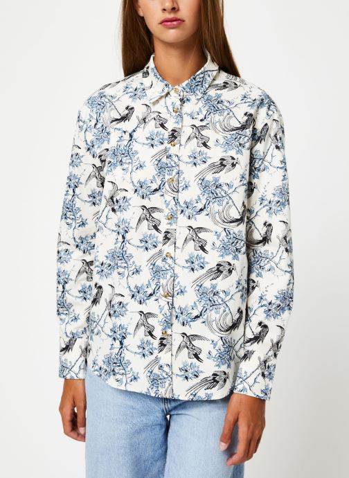 Vêtements Scotch & Soda Classic boyfriend shirt with western detailing Bleu vue droite