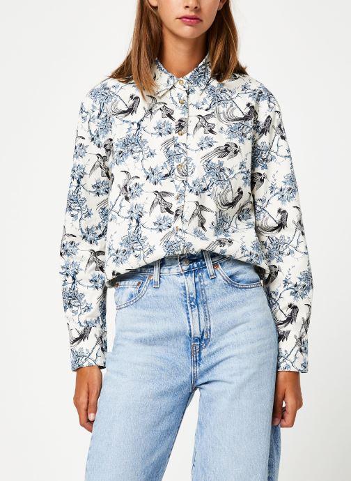 Vêtements Maison Scotch Classic boyfriend shirt with western detailing Bleu vue détail/paire