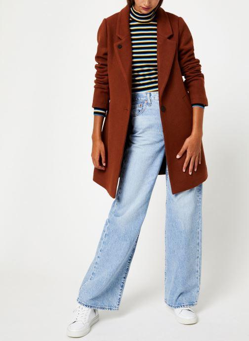 Vêtements Maison Scotch Classic tailored coat with half lining Marron vue bas / vue portée sac