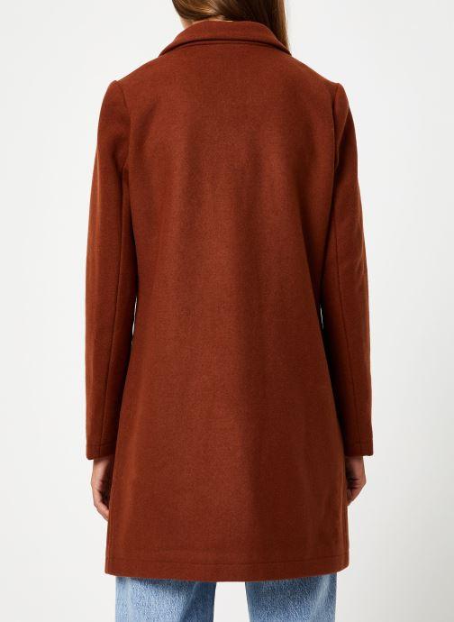 Vêtements Maison Scotch Classic tailored coat with half lining Marron vue portées chaussures