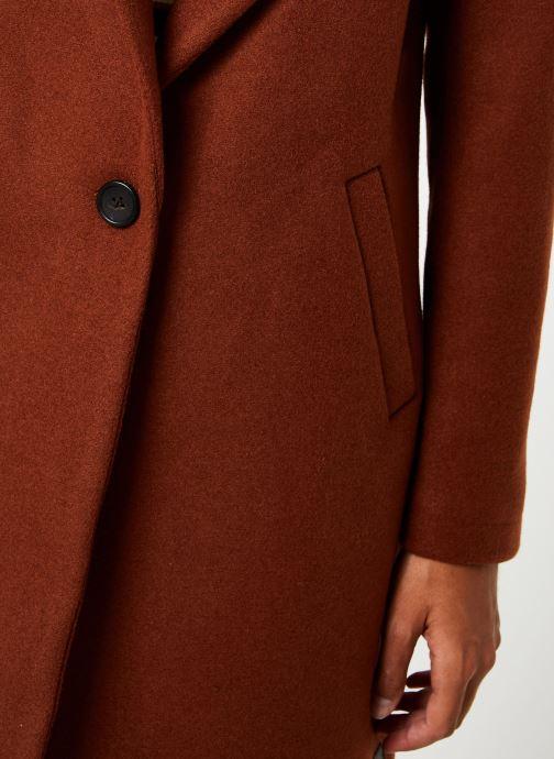 Vêtements Maison Scotch Classic tailored coat with half lining Marron vue face