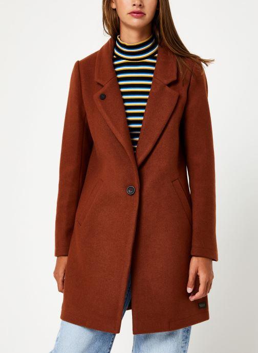 Vêtements Maison Scotch Classic tailored coat with half lining Marron vue droite