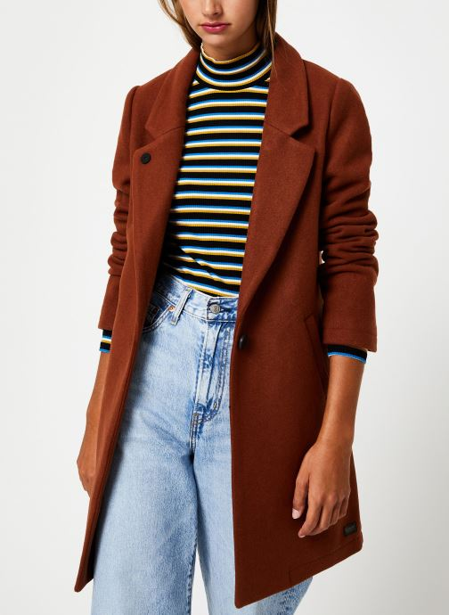 Vêtements Maison Scotch Classic tailored coat with half lining Marron vue détail/paire
