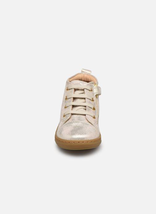 Bottines et boots Shoo Pom Bouba Zip Lace Blanc vue portées chaussures