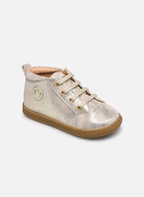 Bottines et boots Shoo Pom Bouba Zip Lace Blanc vue détail/paire