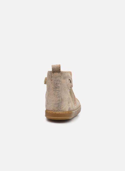 Bottines et boots Shoo Pom Bouba New Apple Or et bronze vue droite