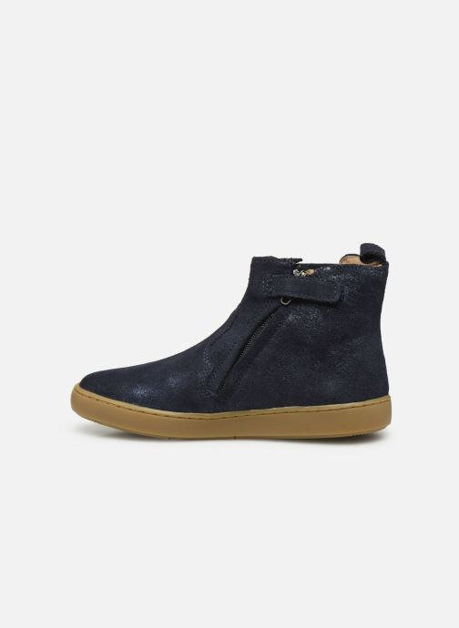 Bottines et boots Shoo Pom Play Stripes Bleu vue face