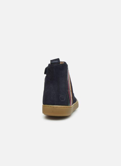 Bottines et boots Shoo Pom Play Stripes Bleu vue droite