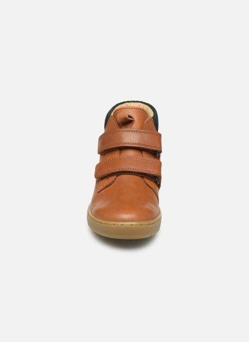 Baskets Shoo Pom Play Desert Scratch Marron vue portées chaussures