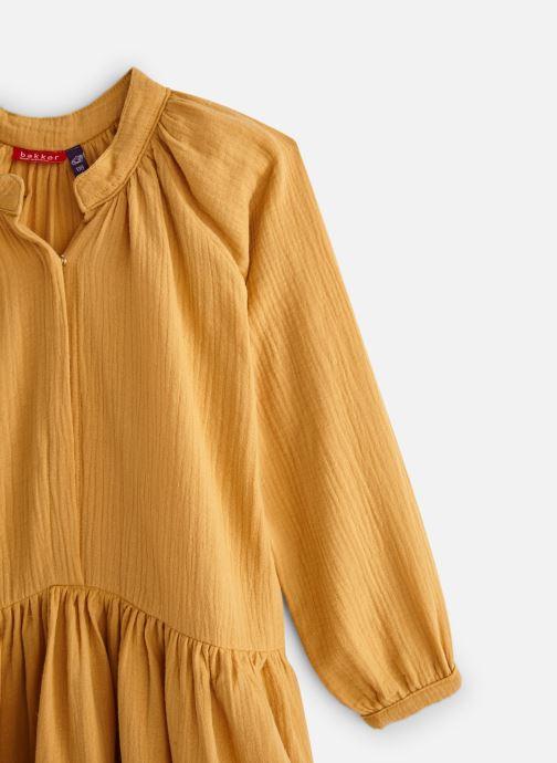 Vêtements Bakker Made With Love Dress Anis Short Cotton Muslin Jaune vue portées chaussures