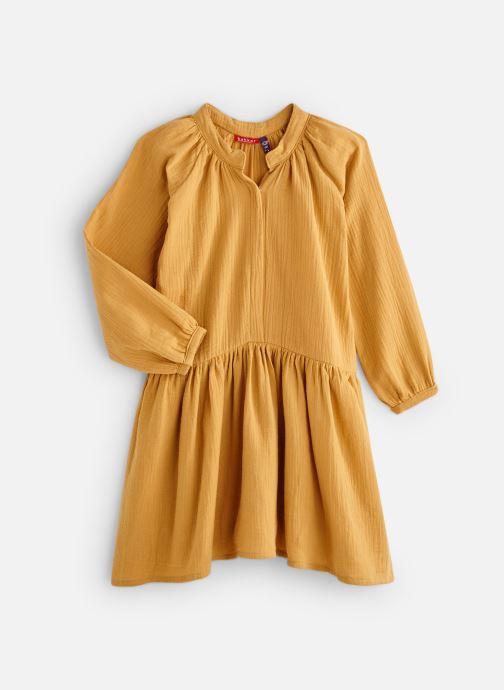 Kleding Bakker Made With Love Dress Anis Short Cotton Muslin Geel detail