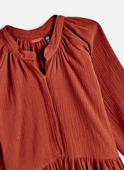 Vêtements Bakker Made With Love Dress Anis Short Cotton Muslin Orange vue portées chaussures