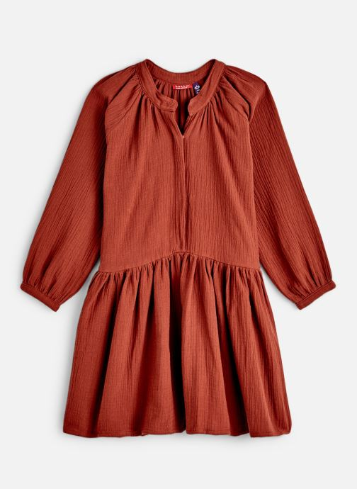 Kleding Bakker Made With Love Dress Anis Short Cotton Muslin Oranje detail