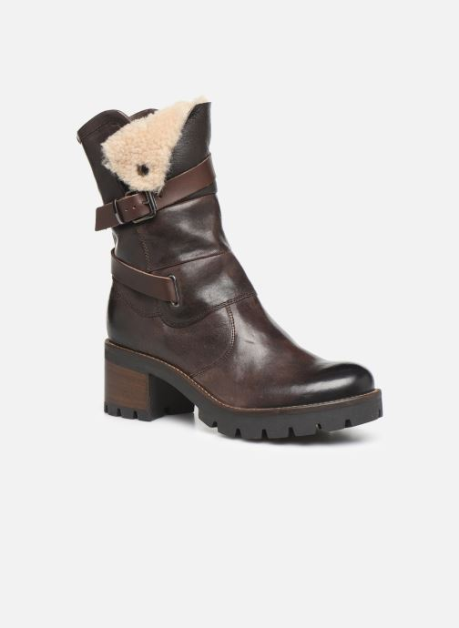 Ankle boots Manas CARNIA 10142M Brown detailed view/ Pair view