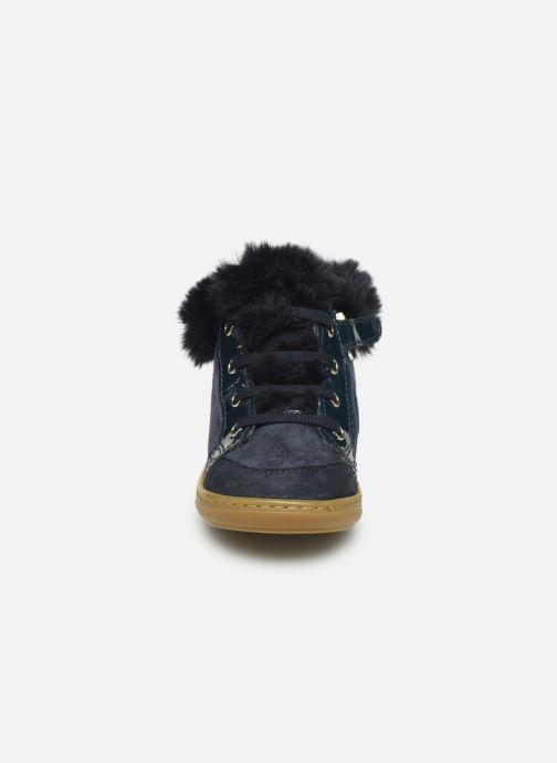 Bottines et boots Shoo Pom Bouba Zip Hair Bleu vue portées chaussures