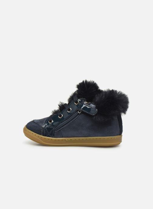 Bottines et boots Shoo Pom Bouba Zip Hair Bleu vue face
