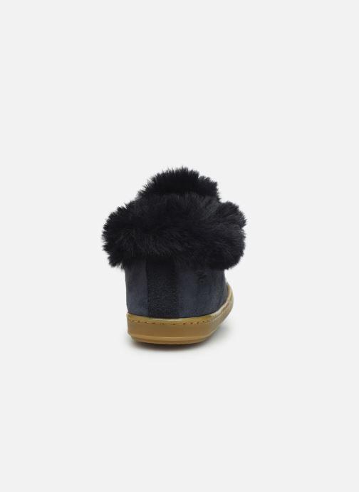 Bottines et boots Shoo Pom Bouba Zip Hair Bleu vue droite