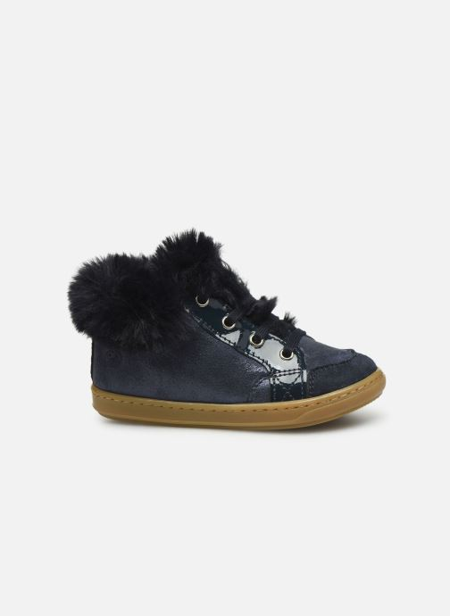 Bottines et boots Shoo Pom Bouba Zip Hair Bleu vue derrière